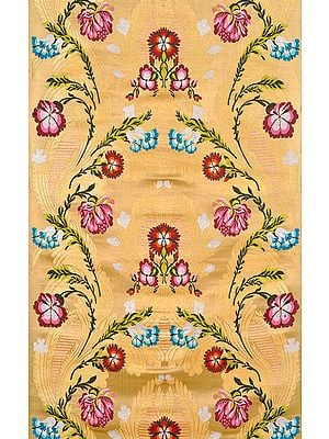 Golden Tibetan Floral Brocade