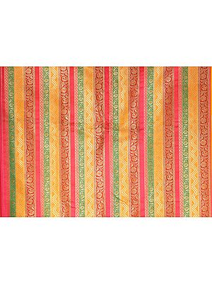 Multi-Color Fabric from Mysore with Golden Thread Weave
