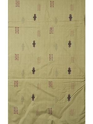 Pale-Green Hand-Woven Bomkai Fabric from Orissa