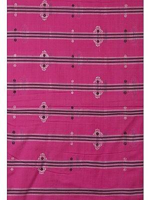 Hot-Pink Hand-Woven Bomkai Fabric from Orissa