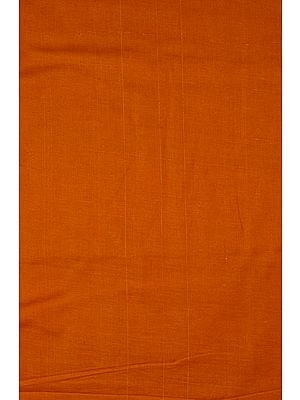 Plain Rust-Orange Handspun Fine Khadi