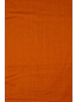 Plain Rust-Orange Handspun Fine Khadi