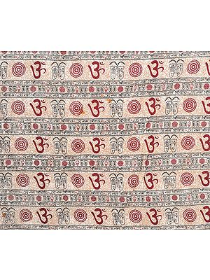 Sanatan Dharma Fabric with Printed Om