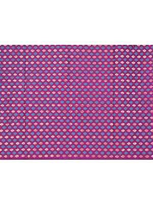 Phlox-Purple Fabric from Banaras with Woven Bootis All-Over