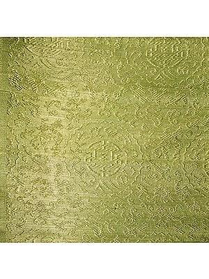 Fabric from Banaras with the Eight Symbols of Good Fortune (Tib. Bkra-shis rtags-brgyad, Skt. Ashtamangala)