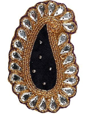 Paisley Velvet Patch with Beadwork