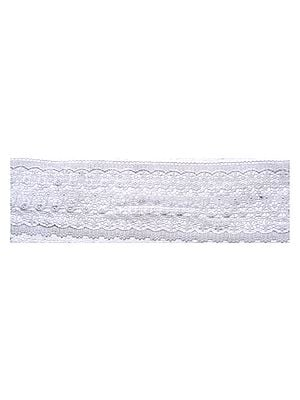 White Cutwork Floral Border