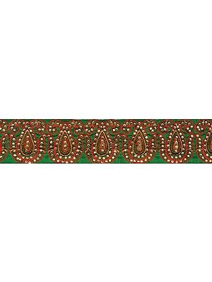 Paisley Border with Ari Embroidery and Crystals