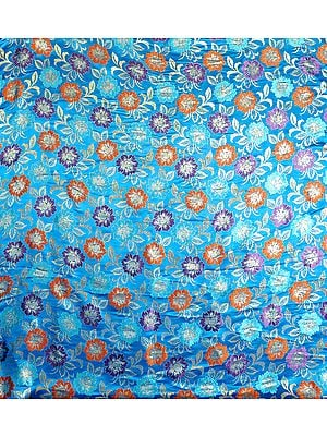 Brocaded Fabric with Woven Flowers