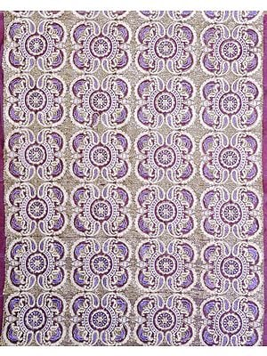 Fabric with Embroidered Paisleys and Sequins