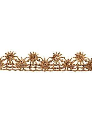 Cutwork Zardozi Star-Spangled Border Embroidered by Hand