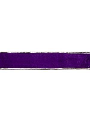 Plain Velvet Fabric Border with Gota Patch
