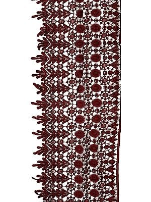Wide Crochet Floral Border