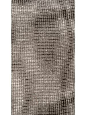 String-Gray Tweed Woven Wool Fabric from Himachal Pradesh