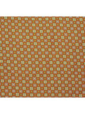 Fabric from Jaipur with Woven Flowers All-Over