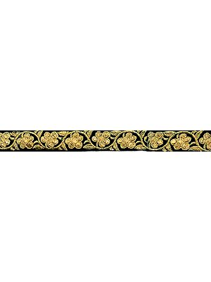 Floral Zari-Embroidered Velvet Lace