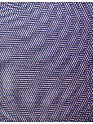 Dazzling-Blue Dodama Fabric from Banaras with All-Over Zari-Woven Bootis