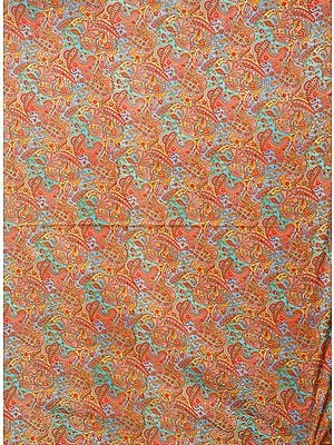 Multicolored Fabric with Abstract Print