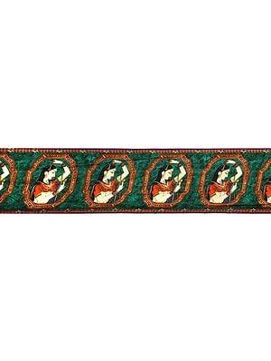 Greenlake Fabric Border with Digital Printed Lady