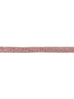 Zari-Embroidered Lace Border with Sequins All-Over