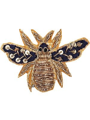 Set of Five Zardosi Honey Bees Patch with Sequins