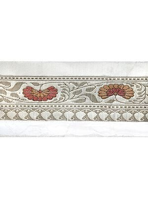 Afterglow Fabric Border with Zari-Woven Flowers and Paisleys
