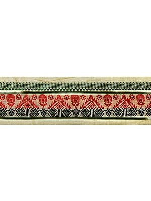 Parsnip Fabric from Assam with Woven Bootis and Florals