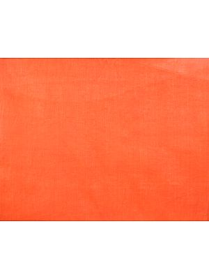 Plain Flame-Orange Handspun Fine Khadi