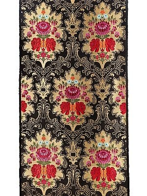 Magical Forest Handloom Brocade Fabric from Banaras with Floral Weave