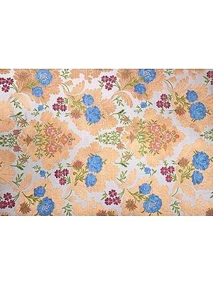 Apricot Cream Tibetan Handloom Brocade Fabric from the House of Kasim
