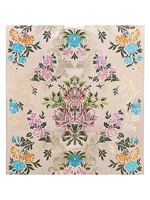 Papyrus Brocade Handloom Fabric from Banaras from the House of Kasim