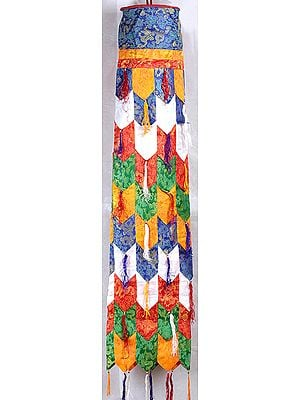 Altar Hanging from Tibet with Multi-color Patchwork
