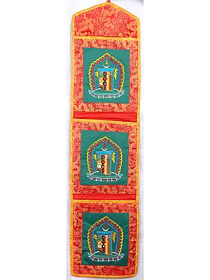 Paper Holder with The Ten Powerful Syllables of The Kalachakra Mantra