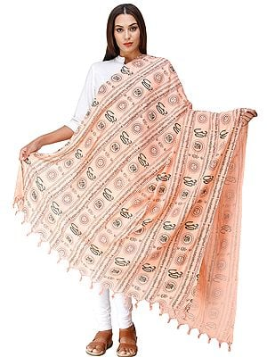 Om Prayer Shawl with Printed Gayatri Mantra