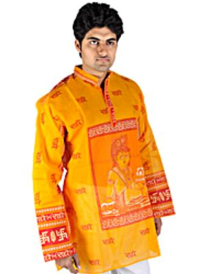 Radhey Radhey Kurta Top with Printed Little Krishna