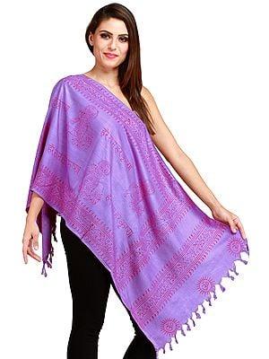 Dahlia-Purple Hare Rama Hare Krishna Prayer Scarf