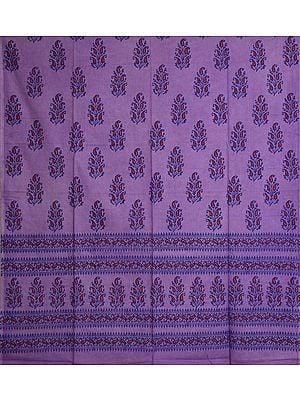 Viola-Purple Curtain with Printed Paisleys Bootis