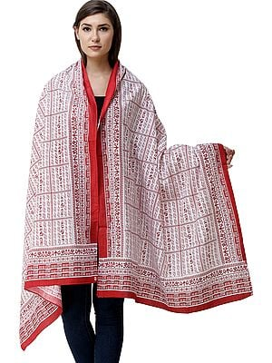 Jai Shri Ram Sanatan Dharma Prayer Shawl from Kashi