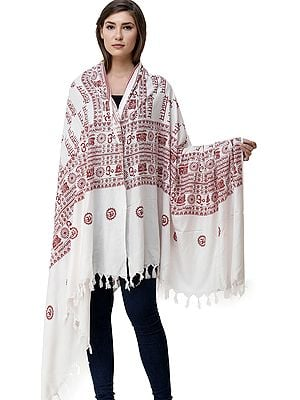 Sita-Ram Sanatan Dharma Prayer Shawl from Kashi