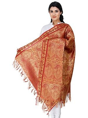 Mariamman Brocaded Prayer Shawl from Tamil Nadu