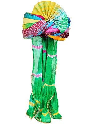 Multicolor Tie-Dye Printed Pagdi/Turban from Jodhpur
