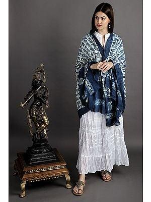Hare Ram Hare Krishna Cotton Prayer Shawl from Iskon Vrindavan by BLISS
