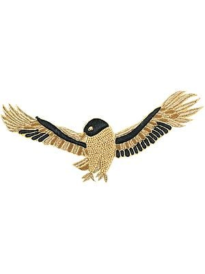 Zari-Embroidered Flying Eagle Patch