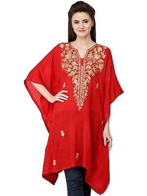 Short Kaftan from Kashmir with Ari Embroidery