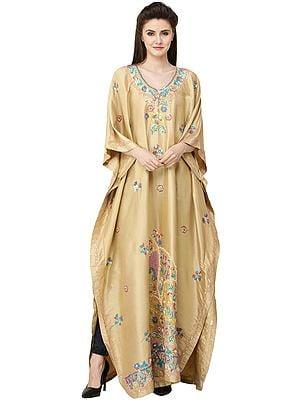 Pebble Kashmiri Kaftan with Embellished Sequins and Stones