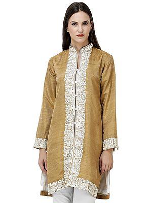 Apple-Cinnamon Jacket from Srinagar with Ari Embroidery