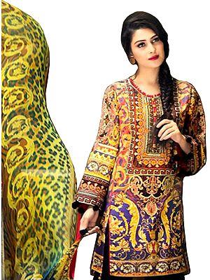 Multicolored Floral Printed Salwar Kameez Suit