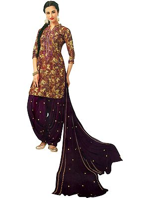 Sierra Digital Printed Patiala Salwar kameez Suit with Embroidery on Neck and Chiffon Dupatta