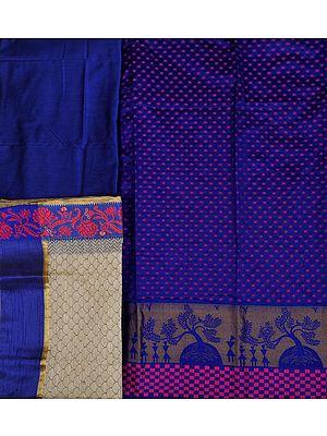 Salwar Kameez Fabric from Banaras with Woven Bootis