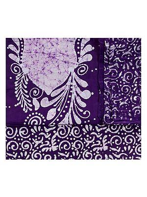 Batik-Dyed Salwar Kameez Fabric